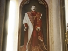 Obraz Bl. Karla Habsburského s relikvií v kapli v Niměřicích