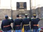 Pietní akt u památníků parašutistů v Resslově ul. v Praze